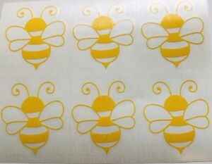 Bumblebee Vinyl Decal 5 YEAR Quality vinyl  X 6