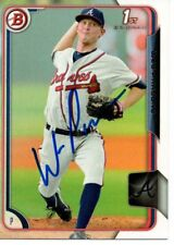 Wes Parsons Atlanta Braves 2015 Bowman Rookie Signed Card