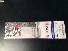 2009 MONTREAL CANADIENS Ticket GORDIE HOWE DETROIT RED WINGS YVAN COURNOYER
