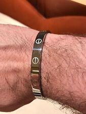 Men's Silver Bracelet With Screws NWOT