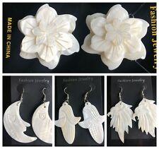 Fashion Jewelry Retro white Boho Jewelry Shell Earrings 4 Model Choice Woman