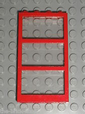 LEGO Red Window with clear Glass 6160c02 57894 / Set 7892 8403 7993 66193 ...