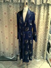 Made In China blue silk dressing gown
