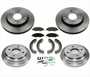 Rotors & Pads Brake Drums Shoes Springs For 09-11 Nissan Versa 1.6L Eng. Only