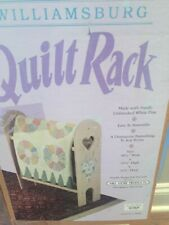 Wood 3 ft Quilt Rack Stand Heart Cutout Towels Blankets Unfinished
