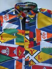 Ralph Lauren POLO  Cotton Button Down Oxford Shirt NEWPORT FLAGS XL