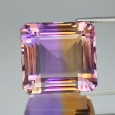 CERTIFICATE Incl.*Big! 34.53ct IF Clean Octagon Natural Yellow Purple Ametrine