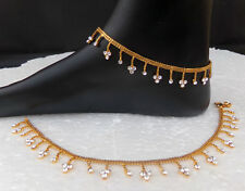 Indian Ethnic Bridal Jewelry Cz Anklet Set Bollywood Fashion Foot Chain Payal 2P