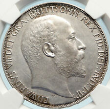 1902 Great Britain Uk King Edward Vii Silver Matte Proof Crown Ngc i84424