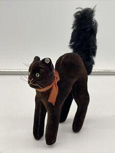 VINTAGE STEIFF WITCHES CAT GENUINE 1950's