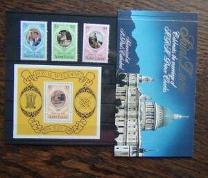 St Lucia 1981 Royal Wedding set Miniature Sheet Booklet MNH