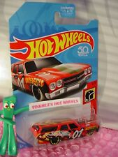 '70 CHEVELLE SS Station WAGON✰Red/Gray;mc5✰fifty✰DAREDEVILS✰2018 Hot Wheels US