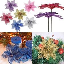 5/10x Hollow Flowers Xmas Tree Bauble Christmas Wedding Party Scene Decor Supply