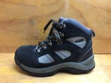 Hi-Tec Altitude Boys Black Suede Hiking  walking boots size UK 3 EU 35
