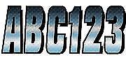Letter Registration Kit Number Sticker Decals Boat PWC Chrome Black Carbon Fiber
