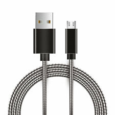 Micro USB Metal Snake Cable Charger With Aluminum Connectors - Gray