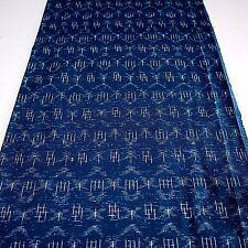 "Kimono Quilt Fabric Blue Art Classic 98cm 38.8"" inches L57"