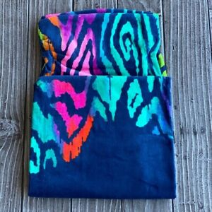 "Blue Bold Colors Animal Print Swimming Beach Towel 34"" x 64"" NEW"