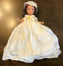 Antique K & H Heinz & Kerr Story Book Like Bisque Doll Frozen Leg Lace Hat!