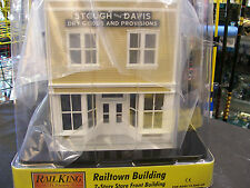 MTH 2-Story Store Front Building Stough & Davis Dry Goods and Provisions Lighted