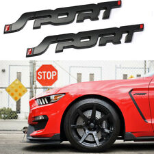Matte Black Sport Letter Auto Emblem Trunk Lid Side Fender Decal Badge For Ford