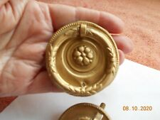 SIX GOLD RING PULL HANDLES FOR DOORS / DRAWERS