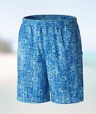 """COLUMBIA PFG BACKCAST II XXL / 2XL 6"""" Inseam Blue Tiki Opal Men's Swim Shorts"""