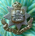 WW1 East Surrey Regiment Cap Badge KC Bi-Metal Slider ANTIQUE Original