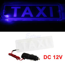CAB Light LED TAXI Transparent Board PMMA Top Sign Roof Neon Lamp Car DC 12V