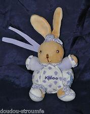 Peluche Doudou Mini Lapin Boule KALOO 2004 Mauve Lavande 10/17 Cm Assis TTBE