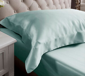 Jasmine Silk Oxford silk Pillow Case Duck egg