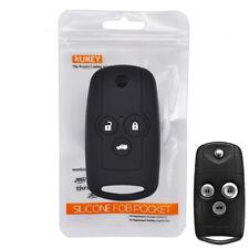 Silicone Key Cover Case For Honda Accord CRZ ACURA Civic CRV MDX TL TSX 3 Button