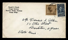 Belgian Congo - Congo Institute Mission Mail Franked with Sc #90 & 122