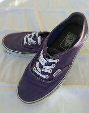 VANS Authentic Skateboarding Shoe Purple Canvas Men's 6 Women's 7.5