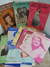 Vtg Sheet Music LOT OF 20 - Movies, Patti Page, Dinah Shore, Andrew Sisters PLUS
