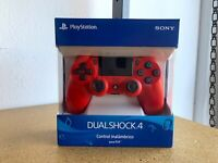 NEW Offcial Sony DualShock 4 Wireless Controller PlayStation 4 (PS4) - Magma Red