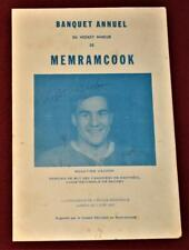 Vintage 1967 Rogie Vachon Montreal Canadiens Rookie Year Signed Banquet Program!