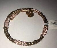 Alex And Ani Heart Wrap Bracelet Rafaelian Hold V18W03RG NWT
