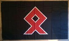VIKING YOUTH PAGAN ASATRU ODINIST ODAL OTHALA RUNE NORSE  3 X 5FT FLAG WODEN ISD