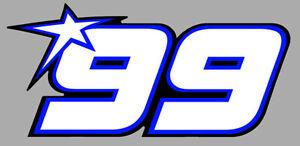 NUMERO 99 COURSE RACING NUMBER MOTO GP STYLE HAYDEN AUTOCOLLANT STICKER SD105