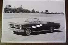 """1967 Mercury Comet Cyclone convertible 12 By 18"""" Black & White PICTURE"""
