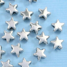 50 x Tibetan Silver Star Spacer 6mm Beads Charms Jewellery Findings