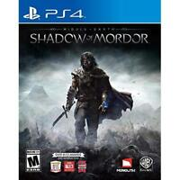 Middle Earth: Shadow Of Mordor For PlayStation 4 PS4 Brand New 4E