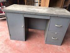 "Vintage Small Mid Century Modern Steel Tanker Desk 54"""