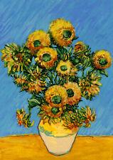 "Vincent Van Gogh's Sunflowers 12.5"" x 18"" Classic Flower Painting Garden Flag"