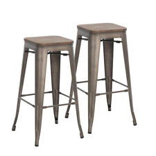 Super Industrial Wood Dining Room Bar Stools Stools For Sale Ebay Machost Co Dining Chair Design Ideas Machostcouk
