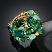 Women Multi Agate Natural Stone Beads Bracelet Wristband Jewelry Gift Hot New