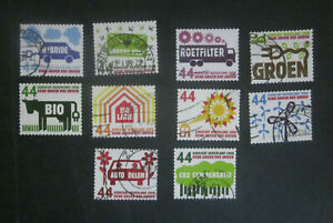 2008 Netherlands complete set 10 x GREEN  used