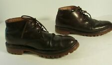 Sebago Hiking Boots Ankle High Brown Leather Men's size 8.5M Vibram