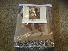 "Walt Disney World Tapestry Woven Throw.  Mickey Mouse.  50"" x 60"". 100% Cotton."